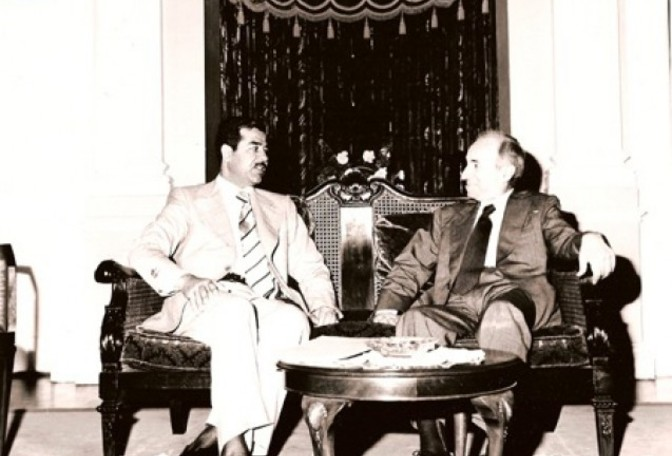 Main_baath_party_founder_michel_aflaq_with_iraqi_president_saddam_hussein_in_1979